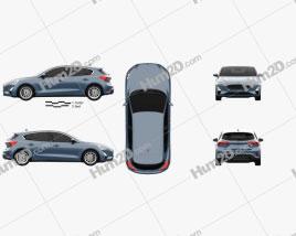 Ford Focus Titanium Schrägheck 2018 car clipart