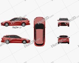 Ford Focus ST-Line turnier 2018 car clipart