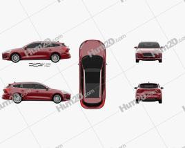 Ford Focus Vignale turnier 2018 car clipart