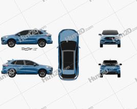 Ford Edge ST 2019 car clipart