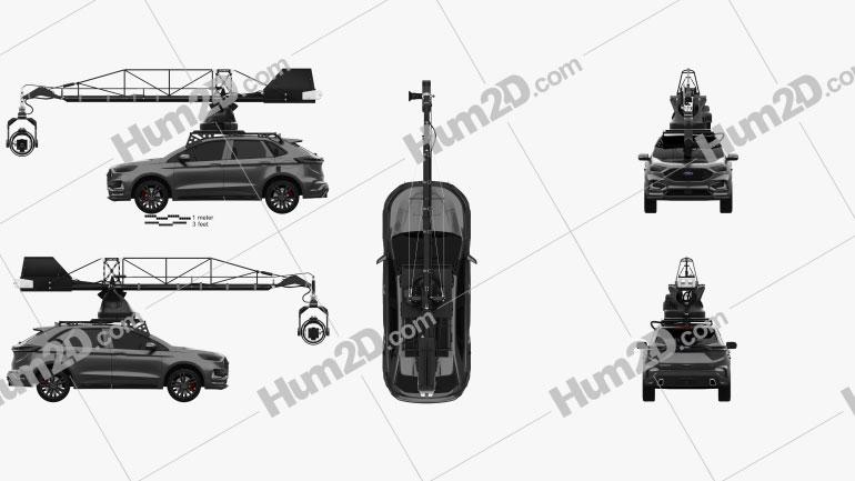 Ford Edge ST Camera Car 2019 car clipart