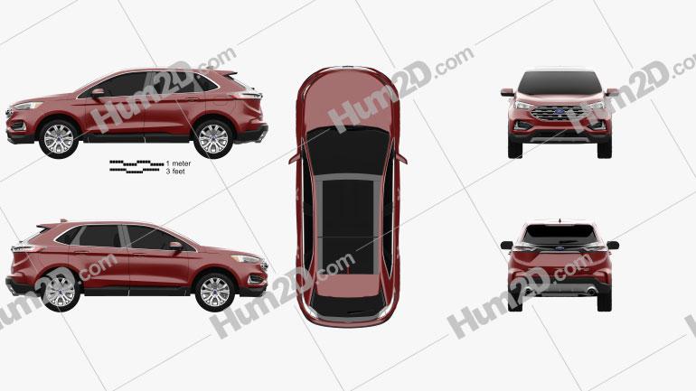 Ford Edge Titanium 2019 car clipart