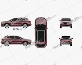 Ford Edge Vignale 2019 car clipart