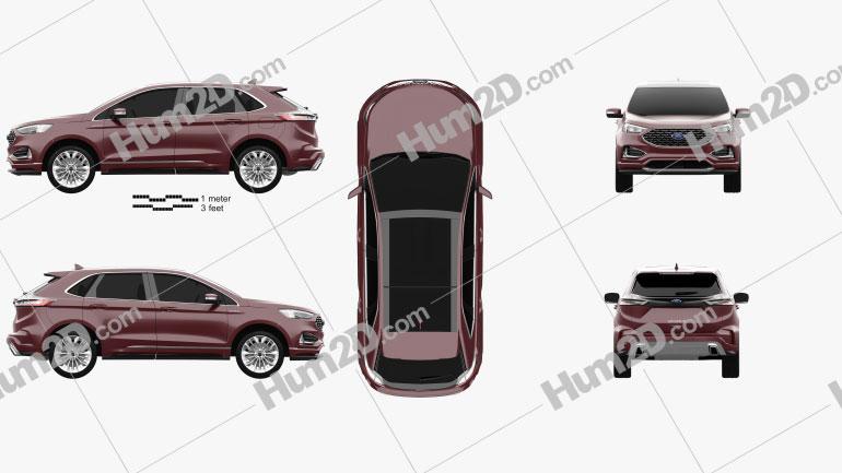 Ford Edge Vignale 2019 Clipart Image
