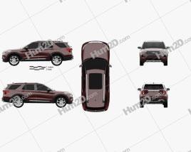 Ford Explorer Platinum 2019 car clipart