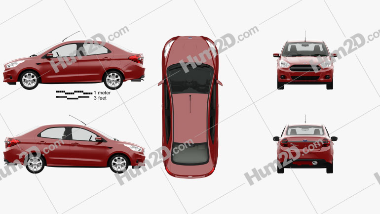 Ford Figo Aspire with HQ interior 2015 car clipart