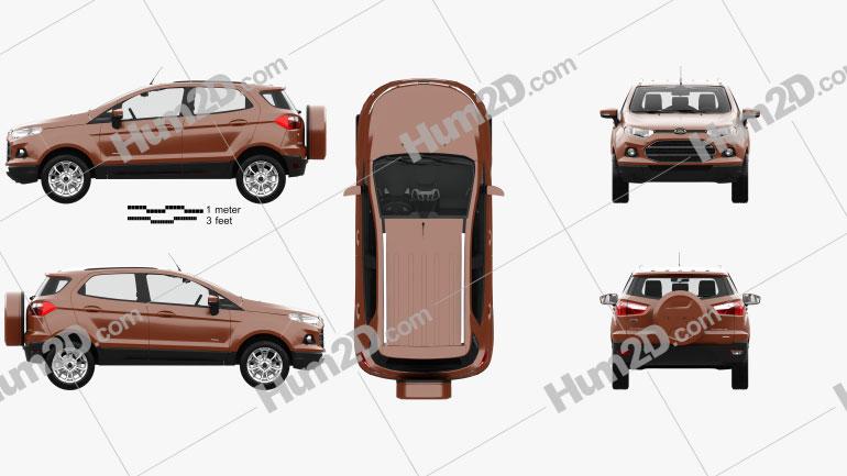 Ford Ecosport Titanium with HQ interior 2013 car clipart