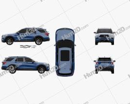 Ford Explorer ST 2020 car clipart