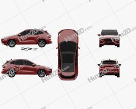 Ford Kuga Hybrid ST-Line 2020 car clipart