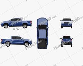 Ford Ranger Doppelkabine XLT 2018 car clipart