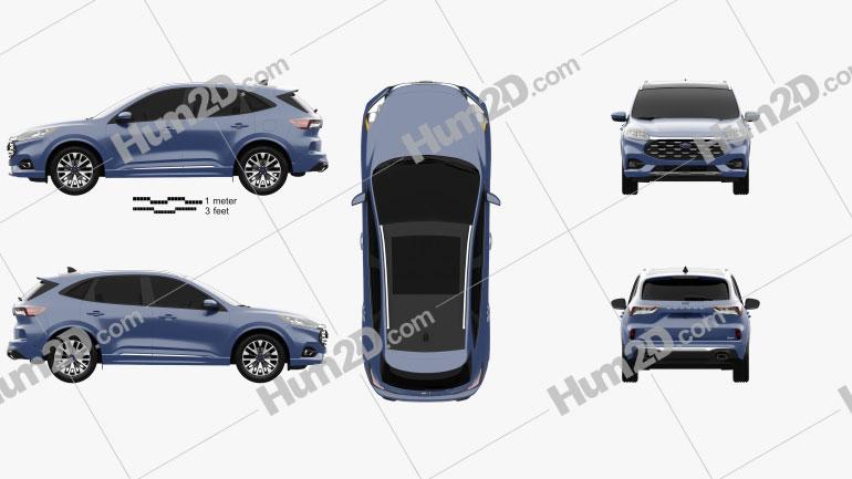 Ford Escape Titanium CN-spec 2020 car clipart