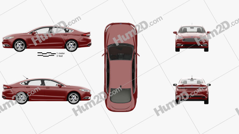 Ford Fusion Titanium with HQ interior 2017 car clipart