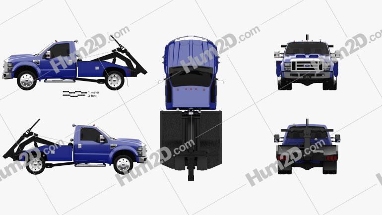 Ford F-550 Super Duty Regular Cab Tow Truck 2005 clipart