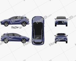 Ford Puma 2020 car clipart