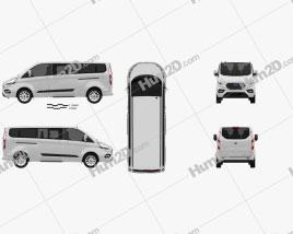 Ford Tourneo Custom L2 2017 clipart
