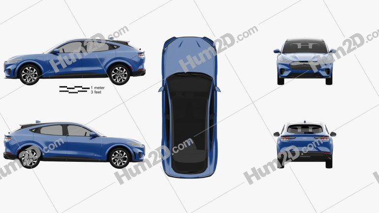 Ford Mustang Mach-E 2021 car clipart