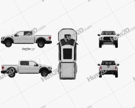 Ford F-150 Super Crew Cab Raptor com interior HQ 2016 car clipart