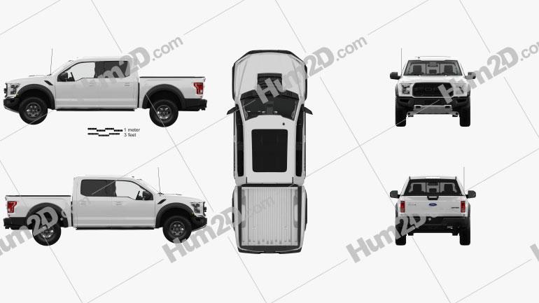 Ford F-150 Super Crew Cab Raptor with HQ interior 2016 car clipart