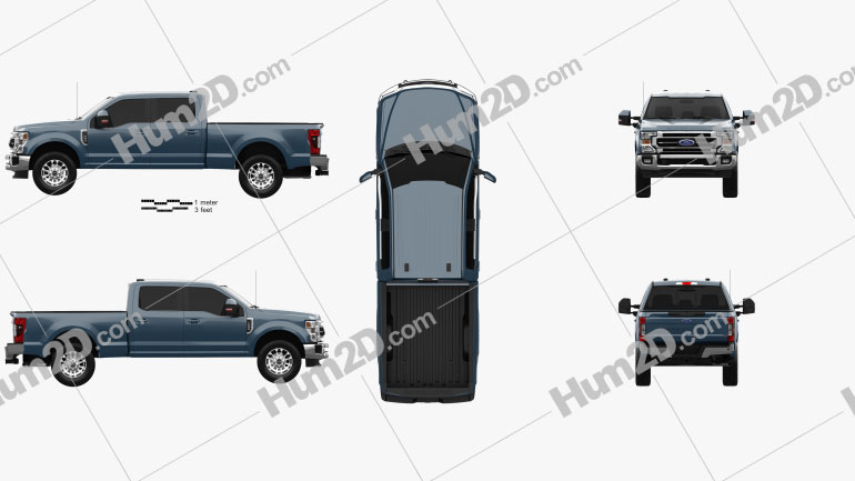 Ford F-250 Super Duty Crew Cab Short Bed Lariat 2020 car clipart