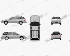 Ford Escort wagon 1997 car clipart