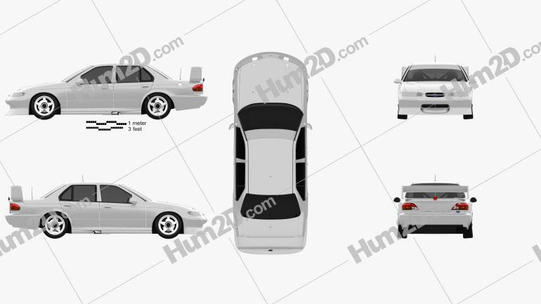 Ford Falcon V8 Supercars 1996 car clipart
