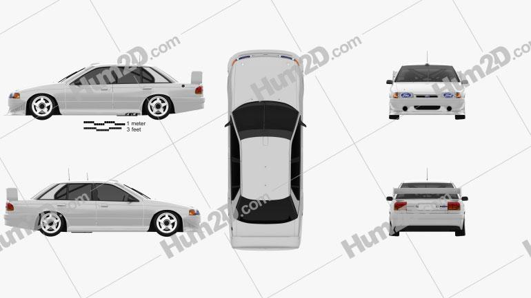 Ford Falcon V8 Supercars 1993 Clipart Image