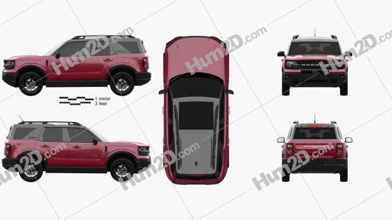 Ford Bronco Sport 2021 car clipart