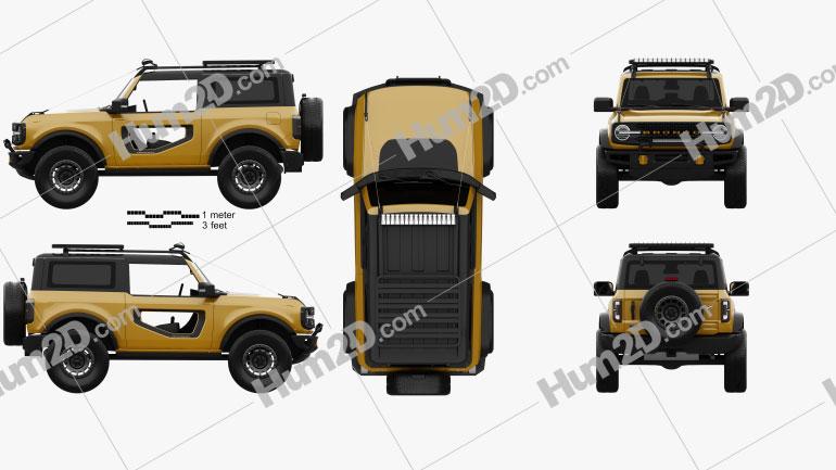 Ford Bronco Preproduction 2-door 2020 car clipart
