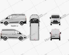 Ford Transit Custom Panel Van L1H2 with HQ interior 2012
