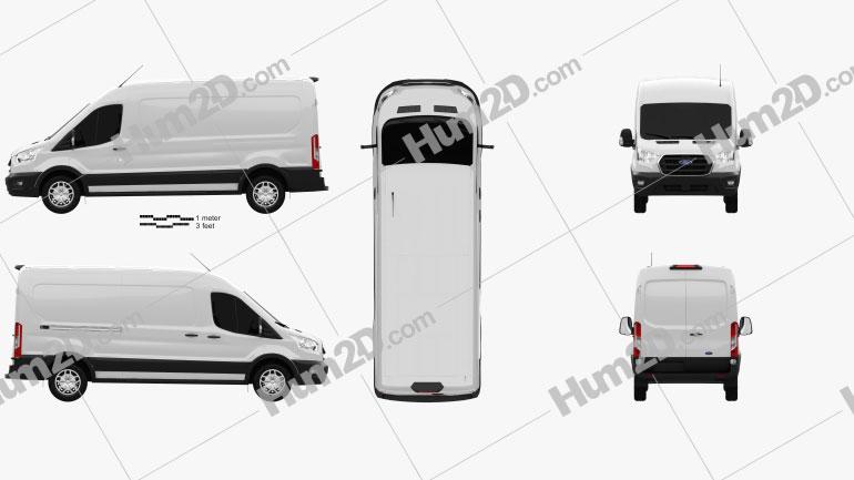 Ford Transit Panel Van L3H2 Trendline 2018 clipart