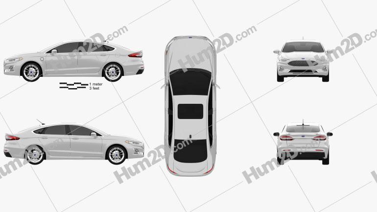 Ford Fusion Energi 2018 car clipart