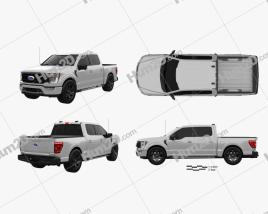 Ford F-150 Super Crew Cab 55ft Bed XLT 2021