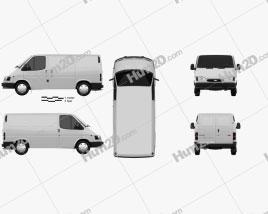 Ford Transit Panel Van L1H1 1994 clipart