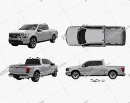 Ford F-150 Super Crew Cab 55ft Bed Lightning Platinum 2021