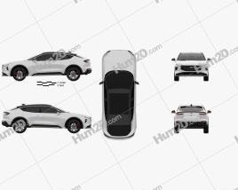 Ford Evos 2021 car clipart