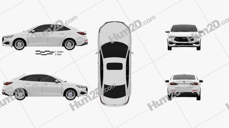 Ford Escort Titanium 2021 car clipart
