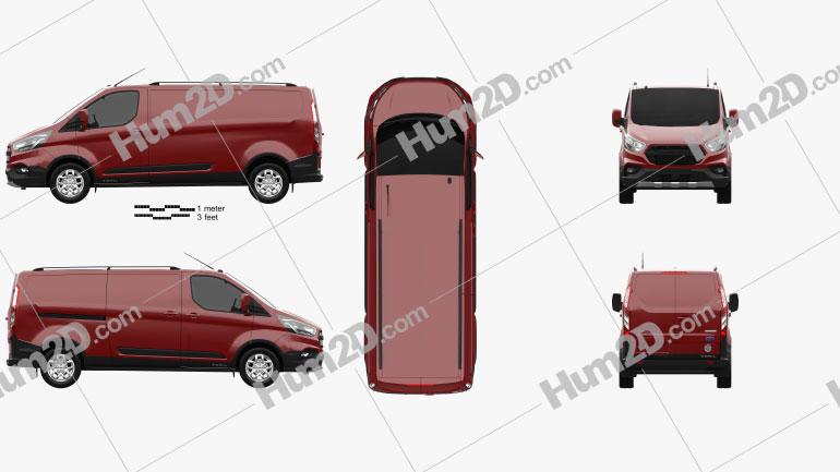 Ford Transit Custom Panel Van L2H1 Trail 2020 clipart