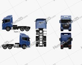 Foton Auman TL Tractor Truck 2012 clipart
