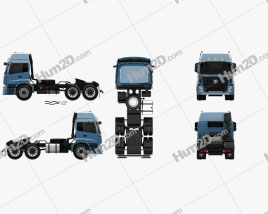 Foton Auman TX Tractor Truck 2012
