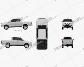 Foton Tunland Double Cab 2012 car clipart