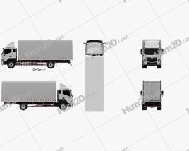 Foton Aumark S Box Truck 2017 clipart