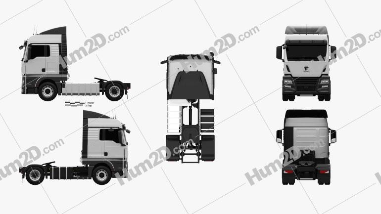 Framo e 180-280 Tractor Truck 2017 clipart