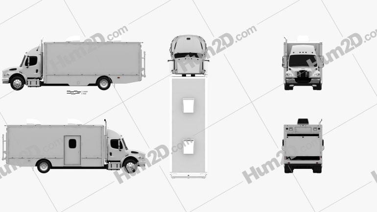 Freightliner M2 106 Custom Tool Truck 2012 Clipart Image