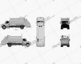 Freightliner M2 Heil PT 1000 Garbage Truck 2012