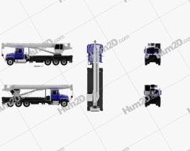 Freightliner 114SD Crane Truck 2011 clipart