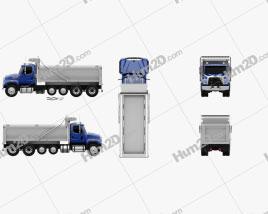 Freightliner 114SD Dump Truck 2011 clipart