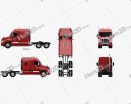 Freightliner Cascadia XT Tractor Truck 2007 clipart