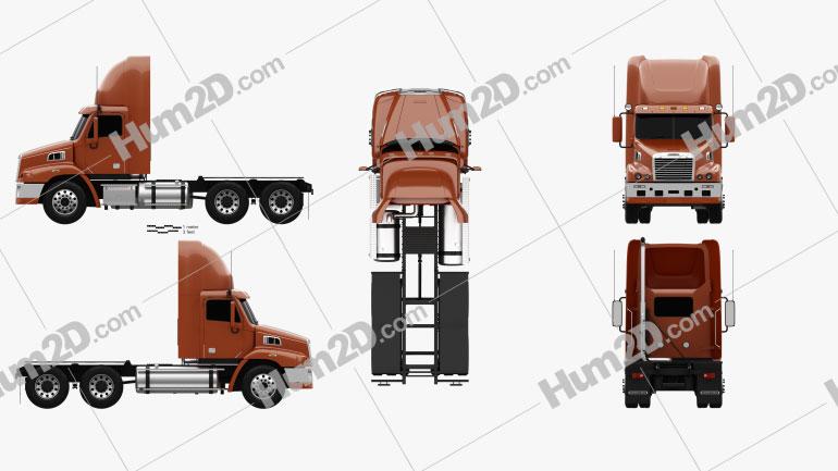 Freightliner Century Class Tractor Truck 2011 clipart