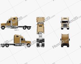 Freightliner Coronado Tractor Truck 2009 Clipart