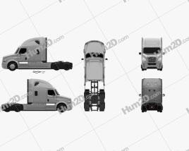 Freightliner Inspiration Tractor Truck 2015 clipart